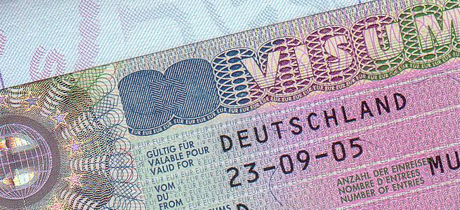 Немецкая национальная виза.