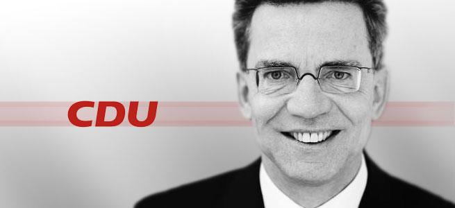 Bundesinnenminister Thomas de Maizière (CDU) © bearb. MiG