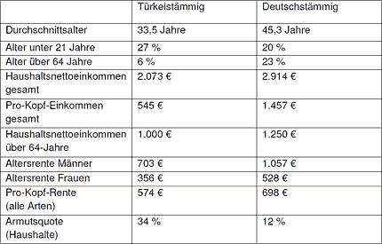 Die finanzielle Lage der türkeistämmigen Bevölkerung im Vergleich © DIA
