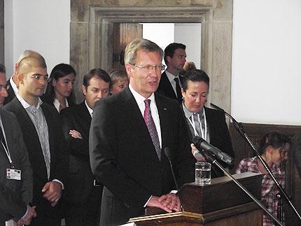 Bundespräsident Christian Wulff während seiner Rede  © Cemil Şahinöz