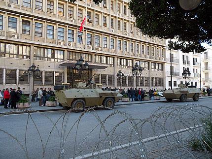 Das tunesische Innenministerium wird rund um die Uhr bewacht.