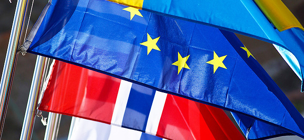 Fahnen, EU, Europäische Union, Flaggen, Europa