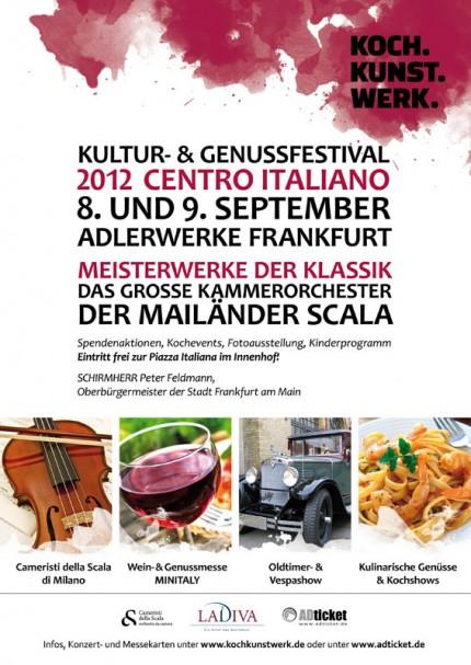 Plakat KochKunstWerk 2012 – Centro Italiano