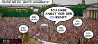 Demo, Demonstration, COMiG, Flüchtlingspolitik, CSU