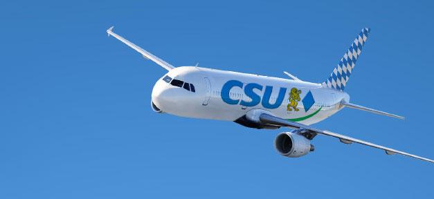 CSU-Slogan: Wer betrügt, der fliegt. © MiGAZIN