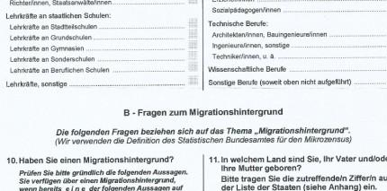 Alles anonym, aber recht detailliert: Befragung in Hamburg.