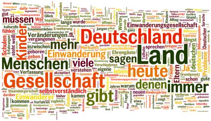 Die Rede von Joachim Gauck als Wortwolke - welche Wörter der Bundespräsident am häufigsten verwwendet hat © wordl.e, MiG