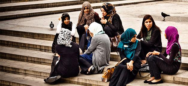 muslime, muslima, kopftuch, mädchen, frauen