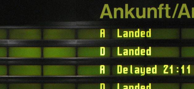 Ankunft, gelandet, landet, Flughafen, Flugzeug