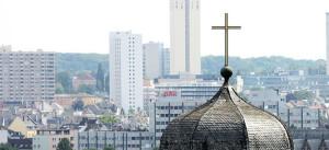 Kirche, Dach, Turm, Kreuz, Christlich, Evangelisch, Katholisch