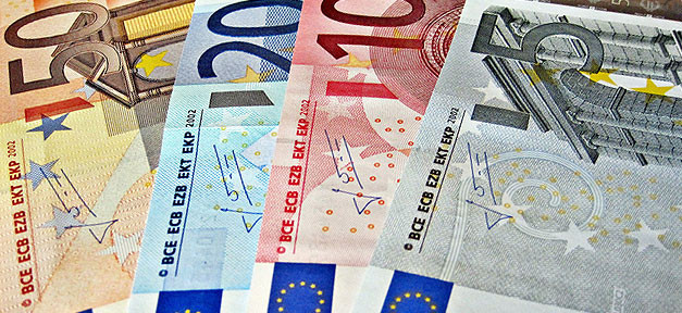 Euro, Geld, Banknoten, Geldscheine, Bargeld, Euros