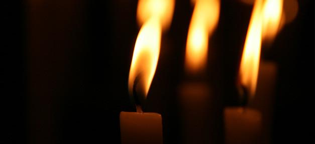 kerze, feuer, licht, dunkel, trauer