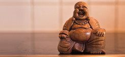 buddah, skulptur, figur, statue, lachen, komisch, witzig