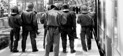 Polizei, Bahn, Kontrolle, Sicherheit, Bahnhof