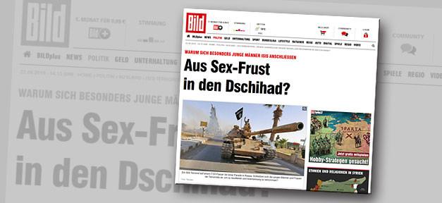 Bild, Aus Sex-Frust in den Dschihad