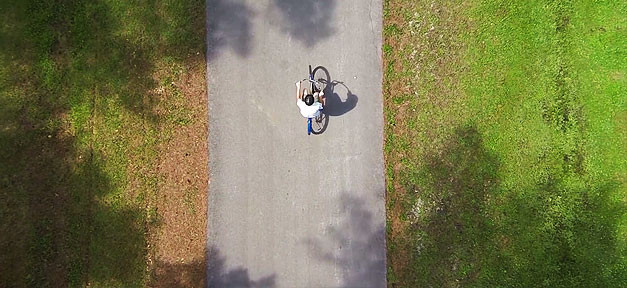 Fahrrad, Fahrradfahren, Wiese, Gehweg, Grün
