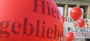 Asyl, Abschiebung, Luftballon, Demo, Demonstration, Abschiebestopp