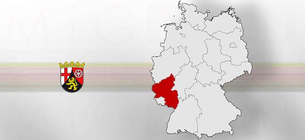 Rheinland-Pfalz, Land, Deutschland, Karte, Landkarte, Wappen