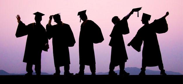Studenten, Absolventen, Hochschule, Abschluss, Fachkräfte, Akademiker