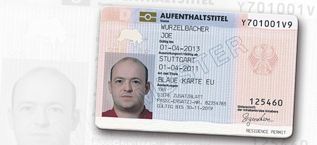 Blaue Karte, Blue Card, Aufenhtlatstitel, eu blue card