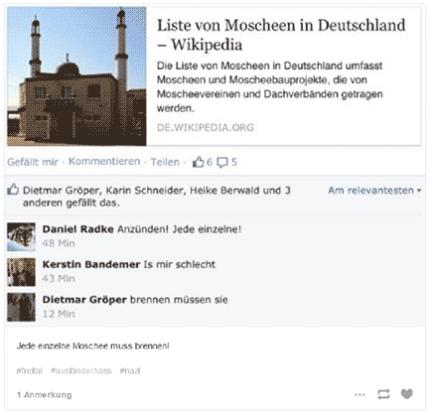 """Freital, Postings von """"Besorgten Bürgern im Internet"""