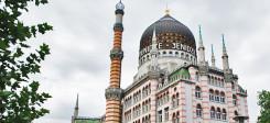 jenidze, dresden, minarette, kuppeln. architektur