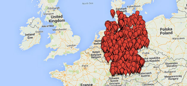 Karte, Deutschland, Flüchtlinge, Google, Ausländerfeindilchkeit, Rechtsextremismus