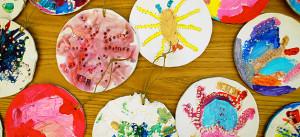 Kindergarten, Malen, Kinder, Kita, Wasserfarbe