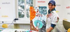 Flüchtling, Kunst, Malen, Bild, Kunsthalle, Karlsruhe
