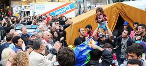 Flüchtlinge, München, Bahnhof, Asyl, Helfer, Welcome, Willkommen