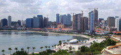 Luanda, Angola, Skyline, Stadt, Küste, Meer, Strand