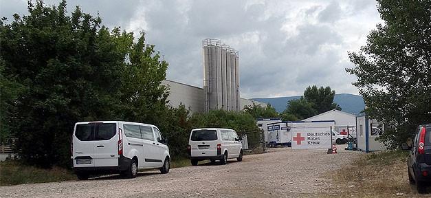 Zeltlager, Zeltstadt, Flüchtlinge, Asylbewerber, Flüchtlingsunterkunft