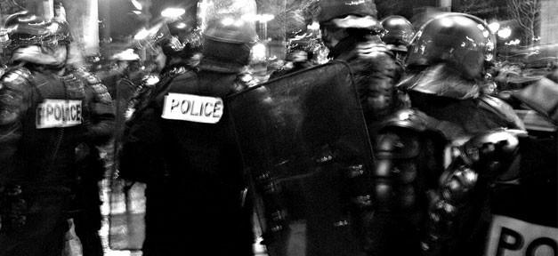 Polizei, police, sicherheit, schwarz, weiß, polizisten
