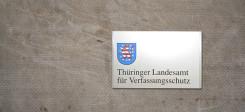 Thüringen, Verfassungsschutz, Landesamt, Schild, LfV