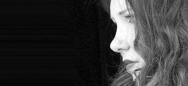 Frau, Traurig, Profil, Frauen, Gewalt, Betrübt