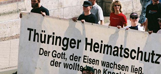 Thüringer Heimatschutz, Demonstration, Rechtsextremismus, Nazis, Neonazis