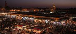marokko, bazar, marrakesch, nacht, menschen, markt