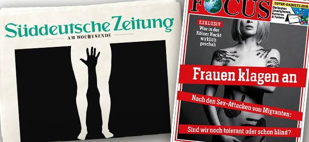 SZ, Focus, Titelseite, Flüchtlinge, Köln, Sexismus