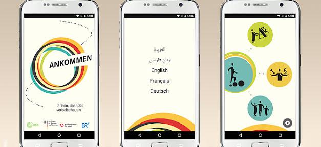 App, Willkommen, Ankommen, Einwanderung, integration, einwanderer