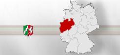 NRW, Nordrhein-Westfalen, Landkarte, Land