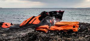 Strand, Flüchtlinge, Rettungsweste, Griechenland, Meer