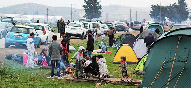 Flüchtlinge, Griechenland, Idomeni, Warten, Zelte
