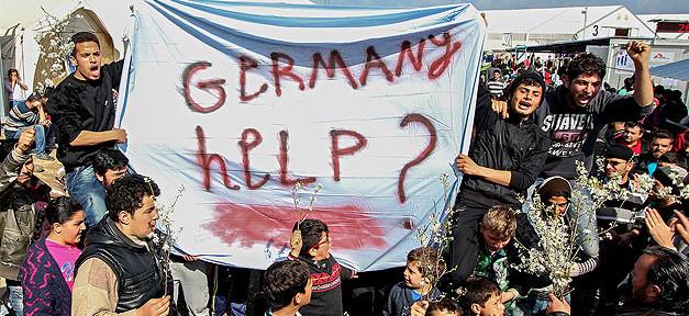 Flüchtlinge, Idomeni, Germany, Help