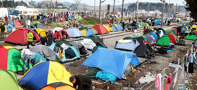 Flüchtlinge, Idomeni, Help, Zelt, Flüchtlingslager