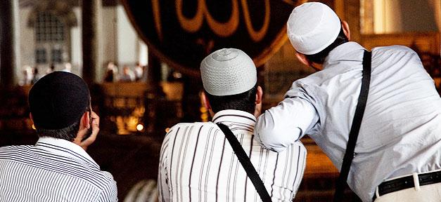 Muslime, Islam, Moschee, Männer, Freunde