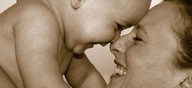 Baby, Mutter, Kind, Familie, Lachen, Liebe