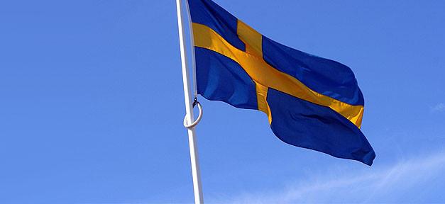 schweden, flagge, sweden, fahne, mast