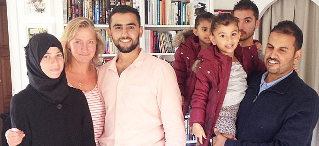 Syrische Familie, Flüchtlinge, Kinder, Eltern