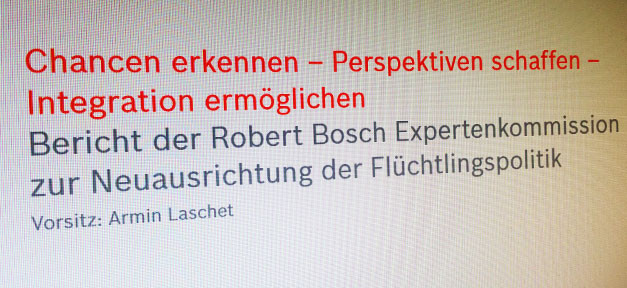 Flüchtlinge, Bericht, Integration, Chance, Robert Bosch Stiftung