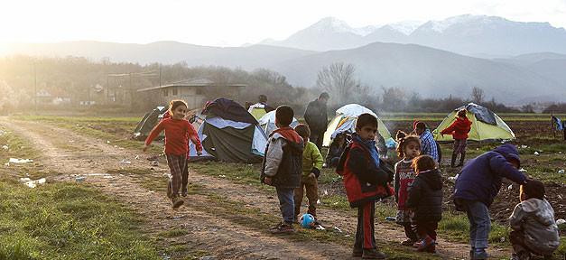 Flüchtlinge, Idomeni, Flüchtlingslager, Kinder